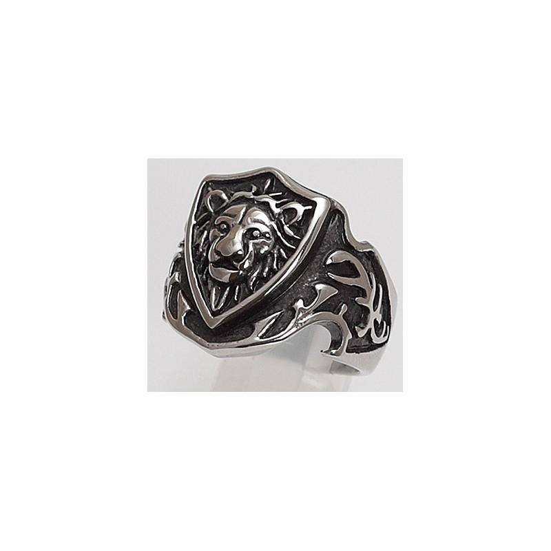 Edelstahlring Löwe (Stückpreis)