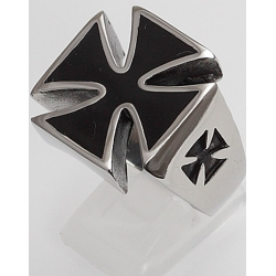 Edelstahlring Eisernes Kreuz (Stückpreis)