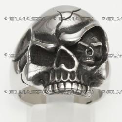 Edelstahlring Totenkopf (Stückpreis)