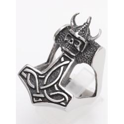 Edelstahlring Thors Hammer/Wickinger
