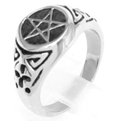 Edelstahlring Pentagramm (Stückpreis)