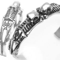 Edelstahlarmreif Skelett 62EM887 (Paketpreis)