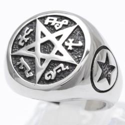 Siegelring mit Pentagramm 67ST50
