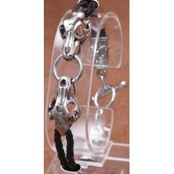 Leder-Armband mit Schnellverschluß 68ST73
