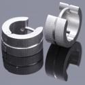 Edelstahlcreole Silber / Laser / Glanz 76ST130