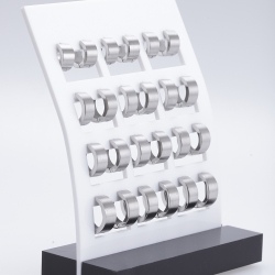 Edelstahl Creolen, 93ST344 ( Display Preis )