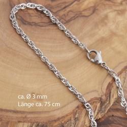 Edelstahl Halskette 7EM131