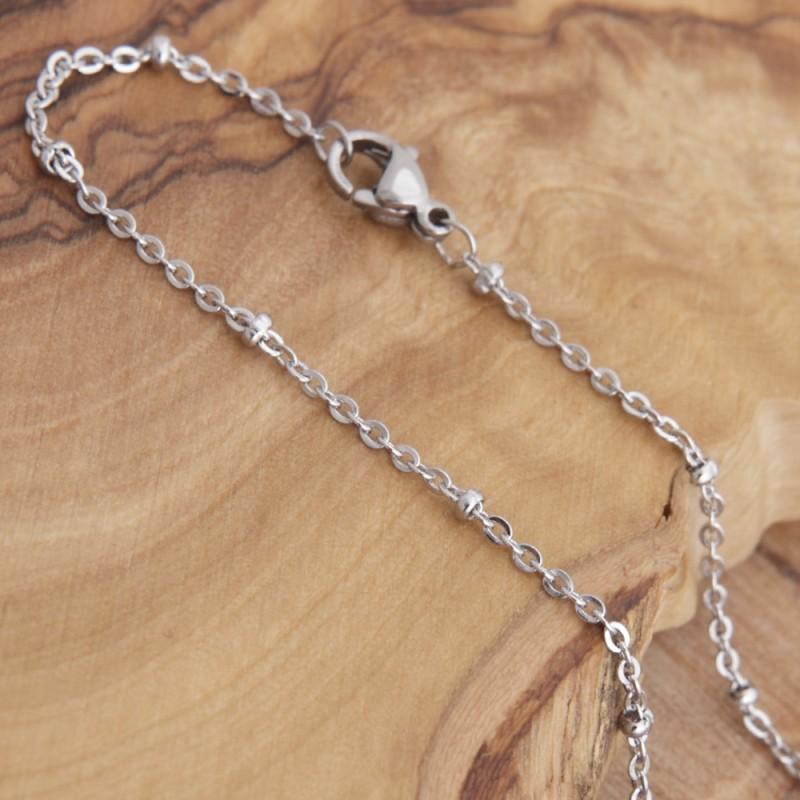 Edelstahl Halskette 80ST185A