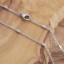 Edelstahl-Halskette 80ST180A