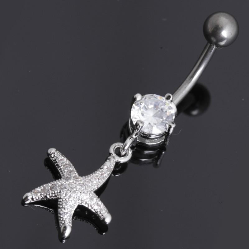 Body-Bauchnabel Piercing aus Titan 12ST153
