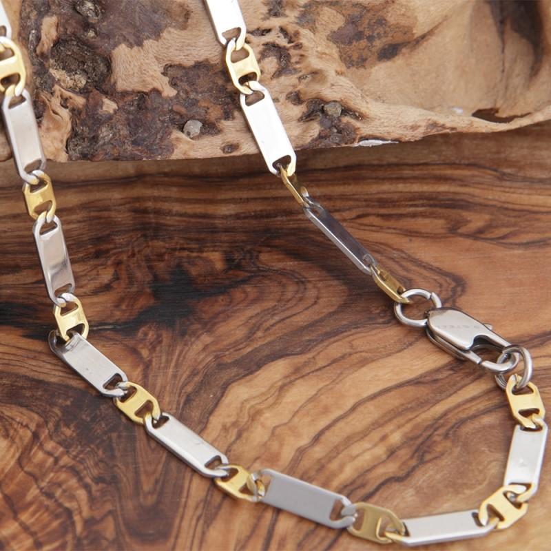 Edelstahl-Halskette 7EM140