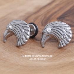 Edelstahl-Ohrstecker Adler mit Gewinde 34ST149