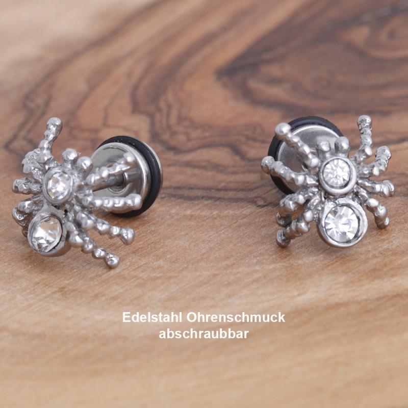 Edelstahl-Ohrstecker Spinne mit Gewinde 34ST151