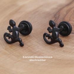 Edelstahl-Ohrstecker Eidechse mit Gewinde 34ST154