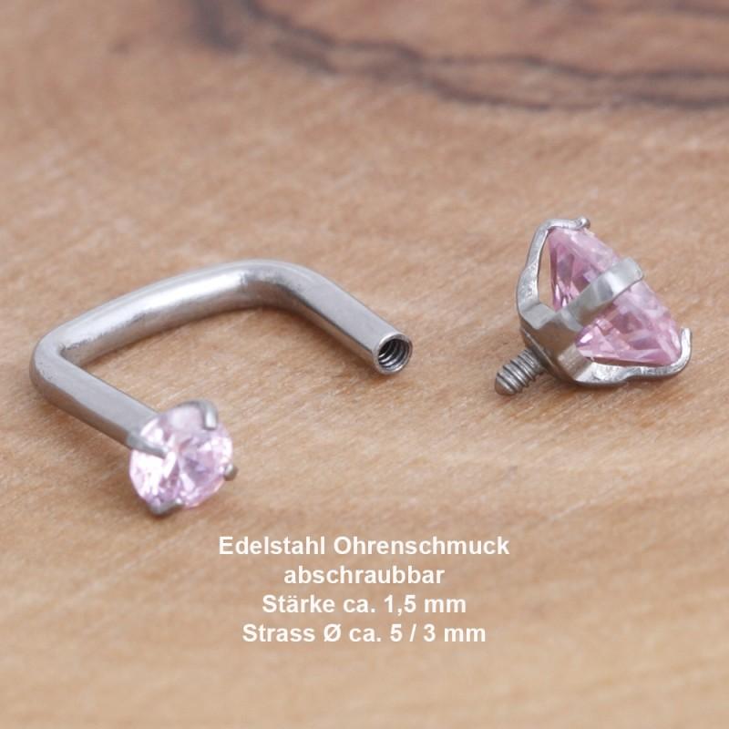 Edelstahl-Ohrstecker 34ST163