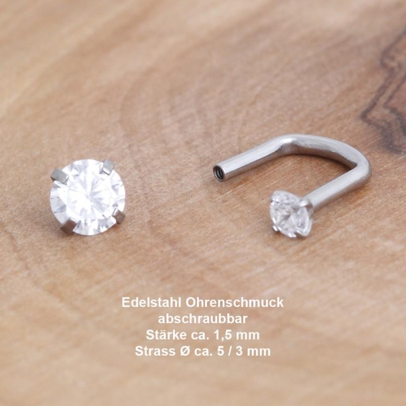 Edelstahl-Ohrstecker 34ST164