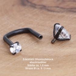 Edelstahl-Ohrstecker 34ST165