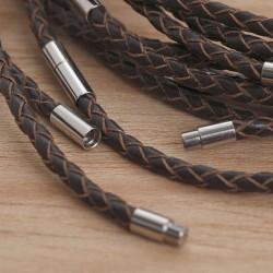 Halskette aus geflochtenem Leder 45Z29