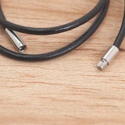 Halskette aus Rundleder 45Z33