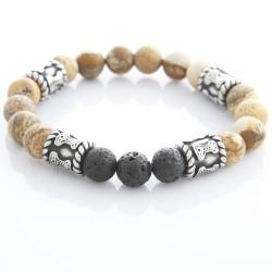 Armband elastisch mit Natursteinen 58ST436