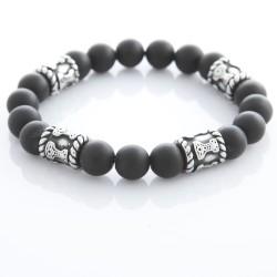 Armband elastisch mit Natursteinen 58ST439