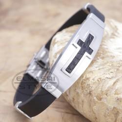 Armband Edelstahl mit Kautschuk 25STB36 (Paketpreis)