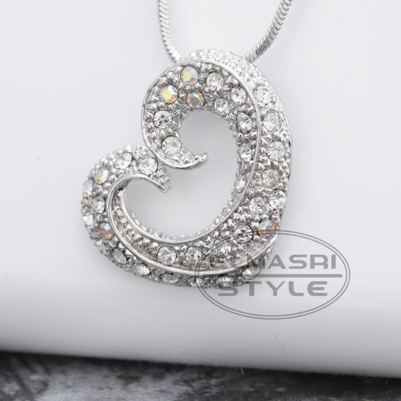 Halskette in Herzform (Paketpreis)