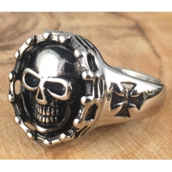Siegel - Ring mit Totenkopf 49EM632
